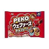 不二家 ペコウェファースチョコレート(バニラ&チョコ)袋 16本×12個