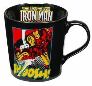 Vandor 26266 Marvel Iron Man Ceramic Mug, 12-Ounce, Black/Yellow/Red