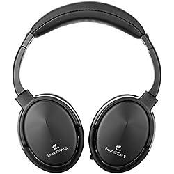 Soundpeats A1 Bluetooth 4.0 auriculares con micrófono incorporado y 12 horas de batería (negro)