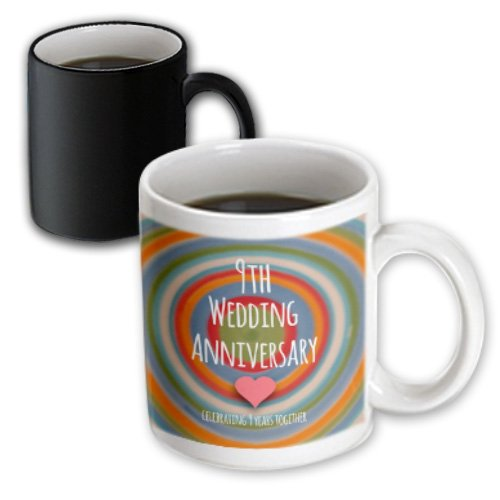 3drose 9th wedding anniversary gift magic transforming mug 9 year anniversary gift