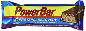 PowerBar Protein Recovery Bar 12g, Cookies & Cream Caramel Crisp, 1.97-Ounce Bars (Pack of 15)