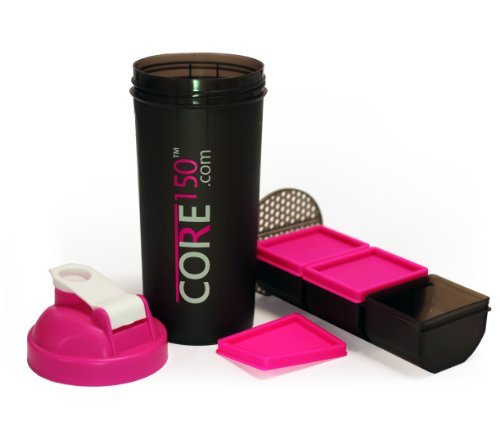 Core150 Pink 1 Litre 35oz Shaker Cup with 3