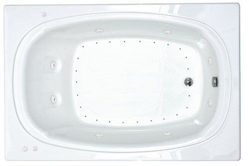 Sea Spa Tubs S4878Cdr Tubs Charleston 48 By 78 By 23-Inch Rectangular Air And Whirlpool Jetted Bathtub, White