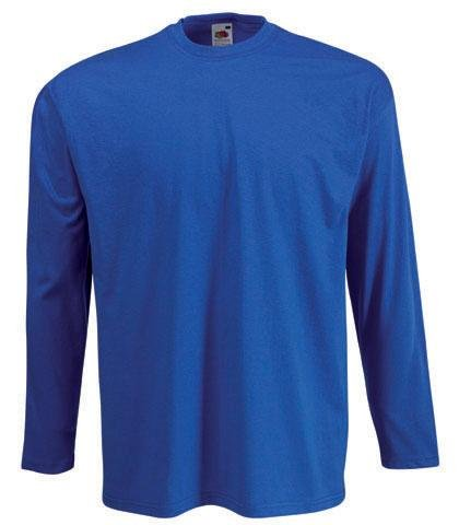 FRUIT OF THE LOOM LONG SLEEVE T SHIRT (S-XXL)