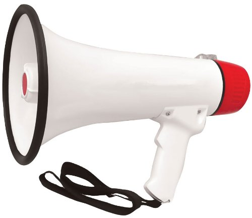Pyle Pmp48Ir 40 Watts Professional Rechargeable Batteries Megaphone/Bullhorn With Mic, Siren And Aux In For Ipod/Mp3 Devices