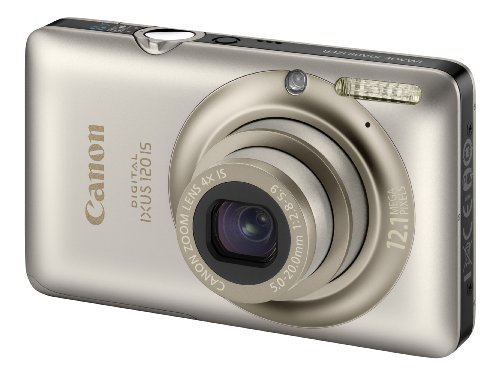 Canon Digital IXUS 120 IS Digital Camera - Silver (12.1 Megapixel, 4x Optical Zoom) 2.7 inch LCD