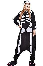 Unisex Adult Pajamas Cosplay Costume Animal Onesie Sleepwear Suit Cartoon Cute Skull (l)
