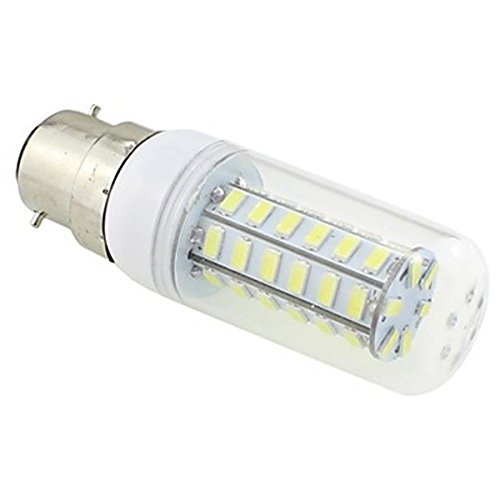 Generic B22 Led 7W 48X5730 Smd 550~600Lm 5500~6500K White Light Clear Cover Corn Bulb Lamp Ac 220V~240V