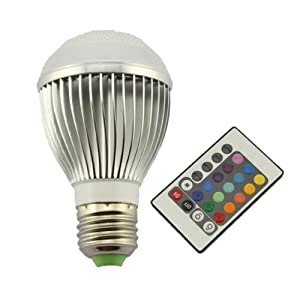 High Power 9W E27 Colorful LED RGB Light Bulb Lamp with Remote Control