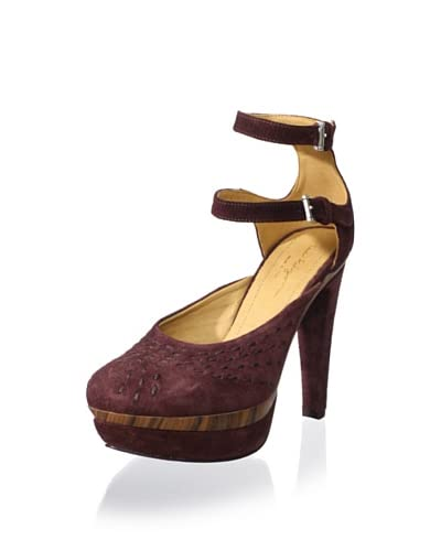 True Religion Women's Amelie Suede Ankle Strap Pump