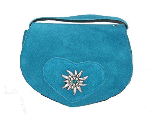 Kabe-Damen-Trachtentasche-velour-Farbe-trkis