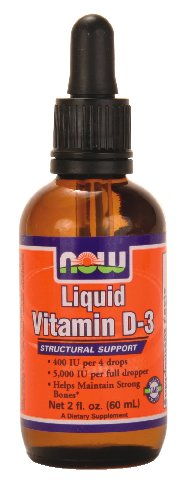 NOW Foods Liquid Vitamin D-3 5000Iu/Dropper, 2 ounce