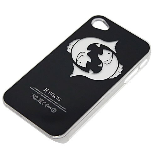 Pisces Sense Flash Light Up Led Lcd Color Changing Case Cover For Iphone 4 4S 4G Hard Plastic Shell Skin Back