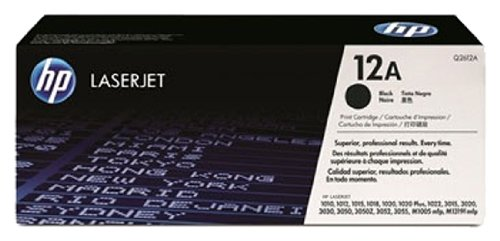 HP Genuine Q2612A HP 12A Laser Toner Cartridge,