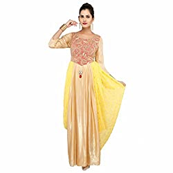 Madhus world Woman Indo Western Stunning Yellow Gown _GN0008C