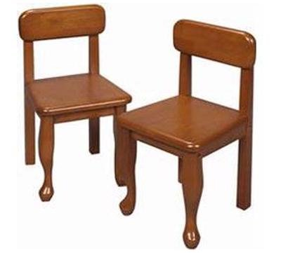 Gift Mark Queen Anne Children's Chair Set, Honey