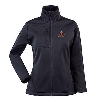 Houston Astros Ladies Jacket - MLB Antigua Ladies Traverse Performance Jacket - Black by Antigua