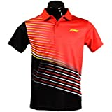 Li-Ning Red/Black Polo T-shirts (MRN-1015)