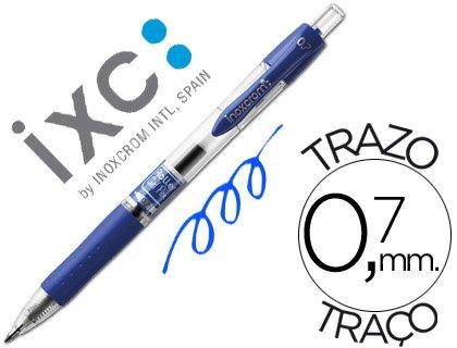 ROTULADOR ROLLER INOXCROM GEL RECTRACTIL CAMPUS AZUL 0,7 MM (12 unid.)