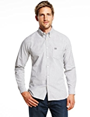 Blue Harbour Pure Cotton Slim Fit Striped Shirt