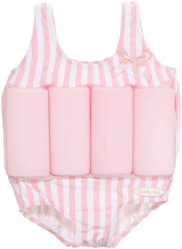 Beverly Kids, Costume da bagno/salvagente con protezione UV Bambino, Rosa (Pink/White), 2 - 3 anni