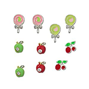 Amazon.com : Winstonia Fruits & Candies Assorted 3D Charms