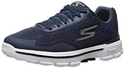 Skechers Performance Men\'s Go Walk 3 Reaction Walking Shoe, Navy/White, 10.5 M US