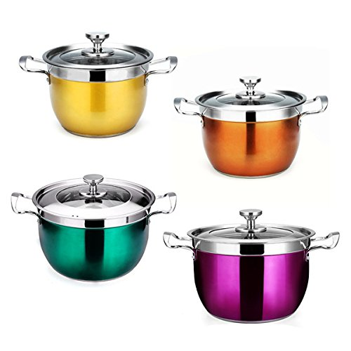Colored Stainless Steel Composite Bottom Soup Stock Pot front-170165