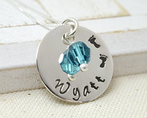 Little Footprints Necklace - Personalized Mom Mommy Jewelry - Mother's Day Gift - New Baby Necklace - Grandma Nana Jewelry - Baby Shower Gift (Little Feet Necklace compare prices)