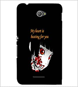 PrintDhaba Quote D-5366 Back Case Cover for SONY XPERIA E4 (Multi-Coloured)