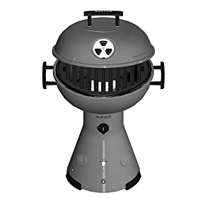 Gastar miGrill Tabletop Gas Grill with Speakers - Titanium Silver