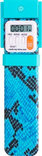Mark My Time Digital Book Light, Blue Snake Skin Print (Book Timer compare prices)