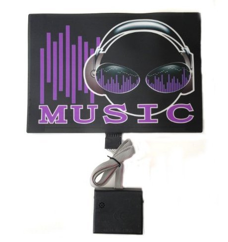 Sound Activated Flashing Music Stereo Headphone Led Panel With Sensor