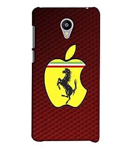 Blue Throat Ferrari With Apple Design Printed Designer Back Cover/ Case For Meizu M2