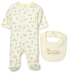 Little Me Duck Layette Yellow, 3 Months