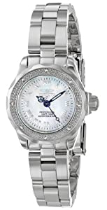 Invicta Women's 16946 Wildflower White Mother of Pearl Dial Silver-Tone Watch