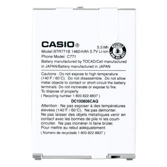 OEM Casio Standard Battery for Casio G'zOne Commando C771 BTR771B