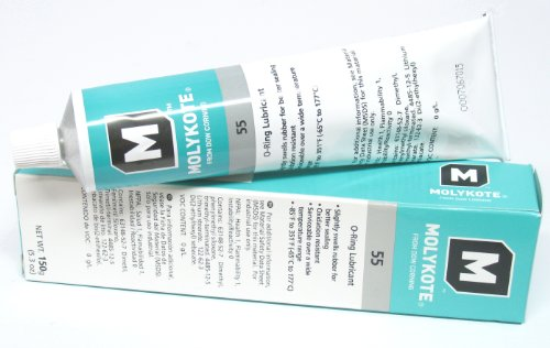 Dow Corning Molykote 55 O-Ring Silicone Grease Lubricant Lube 5.3 Oz Tube back-609341