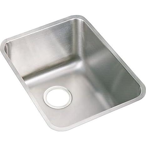 Elkay ELUH141810 Gourmet Lustertone Undermount Sink, Stainless Steel
