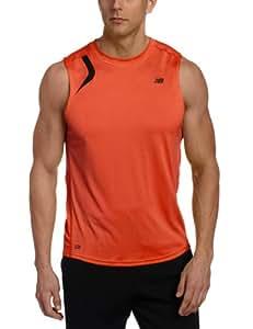 New Balance Herren Running Shirt NBx Prism Sleeveless, cherry tomato, L, MRT2104 T.US
