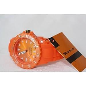 Montre Silicone Watch Color disponible en 9 coloris pour choisir votre couleur EME4-3 (ORANGE)