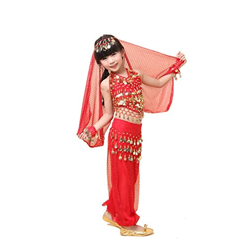 Pilot-trade Kid Belly Dance Suit for Children Elegant Costume 3 Pieces