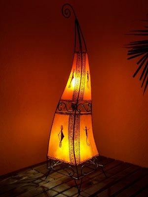 Leather Moroccan Lamp 100 Cm Orange Lighting