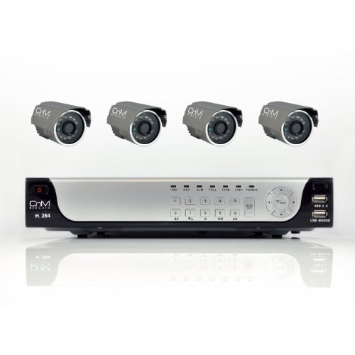 CnM CCTV 1TB Security System 4 ch Camera Kit DVR recorder