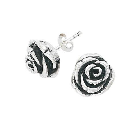Anthony Brava Artform Flower Button Earrings - 925 Sterling Silver