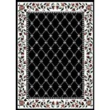 "7'8"" x 10'7"" Home Dynamix 7015 Machine Made Turkish ""Premium Collection"" Black Color Rug"