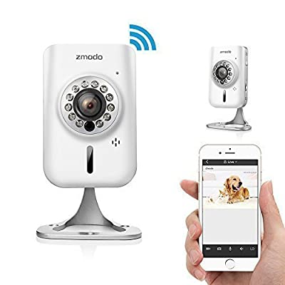 Zmodo 720p HD Wireless Wifi Network IP Home Indoor Security Camera w/ Two-way Audio SmartLink Easy Setup Remote Access in Seconds