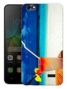 "Humor Gang Beach And Cooler Printed Designer Mobile Back Cover For ""Huawei Honor 4C"" (3D, Matte, Premium Quality Snap On Case)"