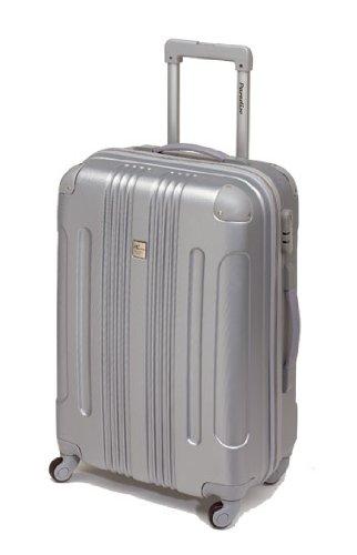 Koffer Trolley Reisekoffer Hartschale 50 cm Silber