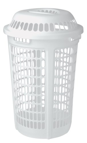 Laundry Hamper and Lid in White